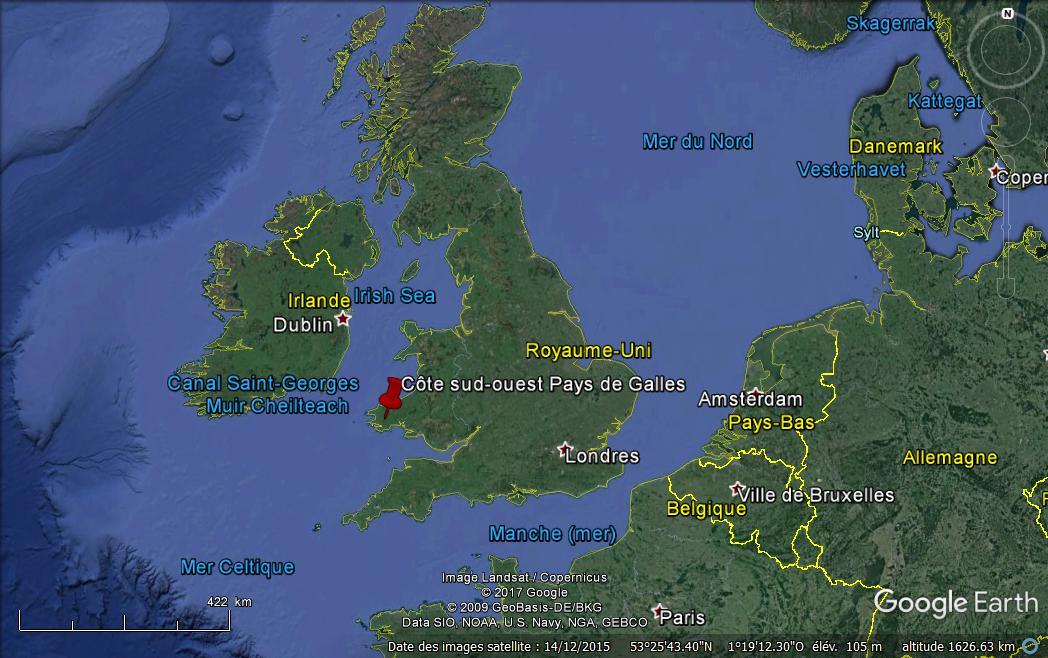 Pays de galles sur google maps